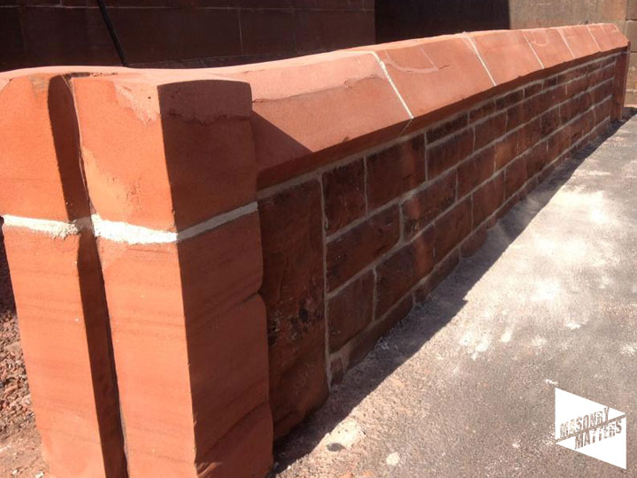 Repaired Sandstone Boundary Wall